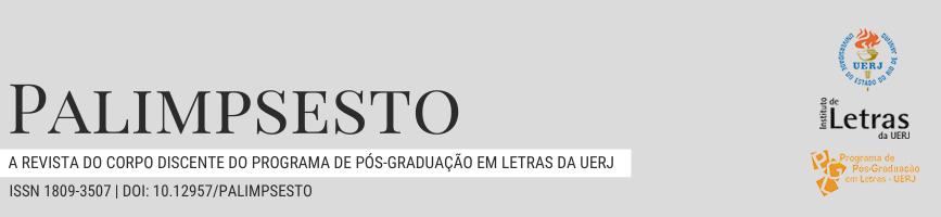 Imagem do cabeçalho da revista: Revista Palimpsesto: a revista do corpo discente do programa de pós-graduação em Letras da UERJ