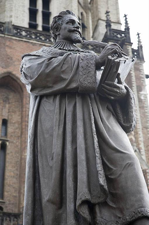 Grotius statue, Delft.